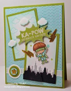 Stamp Smiles: KA-POW Super Powers and YUM YUM Cupcake! #mamaelephant #SuperDuo #kids