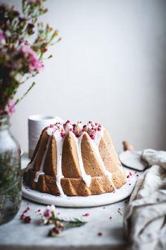 Raspberry Rose Bundt Cake (GF w/ regular flour option) - The Kitchen McCabe