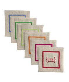 Gift Idea: Linen Coasters from Mark and Graham