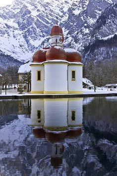 St. Bartholomew, Germany Winter in Bayern -  #deinbayern