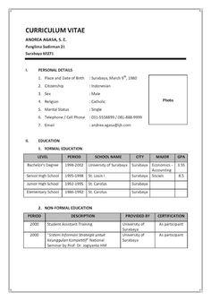 Download Template Cv Bahasa Indonesia Sasolo Annafora Co