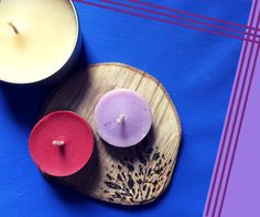 Porta candele diy in legno di noce / candle support Made of wood