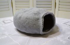 Hey, I found this really awesome Etsy listing at https://www.etsy.com/listing/221746182/crochet-cat-cave-nest-pet-bed-light-gray