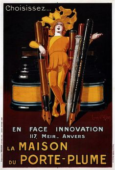 Vintage poster by Jean D'Ylen, via Vintage Advertising and Poster Art.
