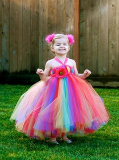 Custom Listing for Alicia - Rainbow Bright Tutu Dress - for Weddings, Birthdays, Pageants and more Good.