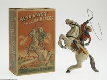 Lone Ranger Wind-Up Toy Antique Toys, Vintage Toys, Vintage Antiques, Victorian Toys, Annie Oakley, The Lone Ranger, Tin Toys, Cool Toys, Blessing