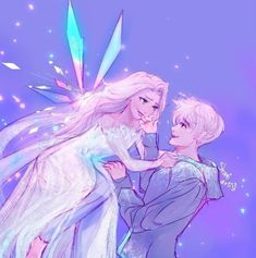 Image about disney in Jelsa♥♡♥ by Bubble on We Heart It Disney Au, Disney Ships, Arte Disney, Disney Fan Art, Disney And Dreamworks, Punk Disney, Disney Movies, Disney Characters, Jack Frost Und Elsa