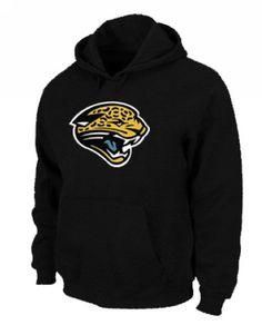 Jacksonville Jaguars Logo Pullover Hoodie Black Sports Sweatshirts fcc7c1235
