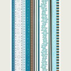 douce teintes de bleu et flocons pour ces bordures hivernales