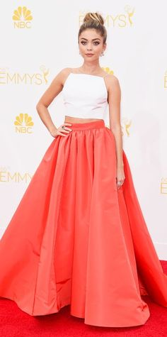 Emmy Awards 2014 Red Carpet Photos - Sarah Hyland in Christian Siriano