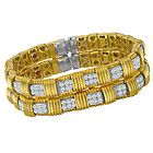"""Roberto Coin """" Weave Collection """" bracelet in 18k yellow gold w/ approx. 5 carat - Designer Jewelry Galleria"""