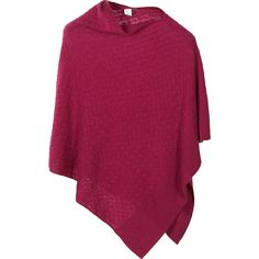 Kinross Cashmere Lattice Cable Poncho Sweater ($275) ❤ liked on Polyvore featuring outerwear, apparel, purple, women's apparel, purple poncho, striped poncho, cable poncho and cable knit poncho
