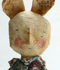 vintage paper mache doll by grrl + dog