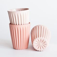Touch: Pastel Pottery by Lenneke Wispelwey lenneke-wispelwey-cups-Remodelista - of course I love these, the designer is DUTCH!lenneke-wispelwey-cups-Remodelista - of course I love these, the designer is DUTCH! Porcelain Ceramics, China Porcelain, Painted Porcelain, Ceramic Cups, Ceramic Pottery, Deco Rose, Kitchenware, Tableware, Ceramic Design