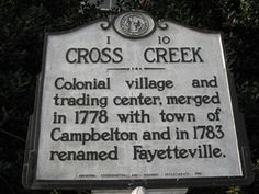 Cross Creek:  do you all think this could be the cross creek of Claire and Jamie