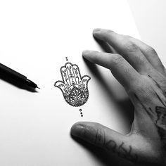 33 Cool Small Wrist Tattoos For Guys – Wrist Designs Hamsa Hand Tattoo, Small Hamsa Tattoo, Hamsa Tattoo Design, Small Hand Tattoos, Mini Tattoos, Trendy Tattoos, Small Buddhist Tattoo, Hamsa Tattoo Placement, Buddhist Tattoos