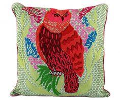Dekoračný vankúš Green Angry Owl 50x50 cm