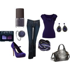 Purple blue, love it but don't think I can handle to shoes
