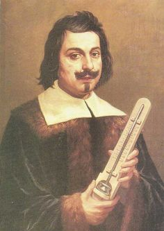 Evangelista Torricelli (1608–1647) was an Italian physicist and mathematician, best known for his invention of the barometer, but is also known for his advances in optics and work on the method of Indivisibles.