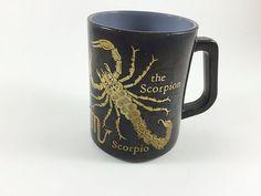 Vintage Horoscope Zodiac Mug Federal Glass by LivingAVntgLife