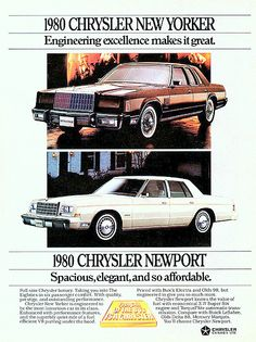 1980 Chrysler New Yorker 4-Door Sedan and Newport 4-Door Sedan