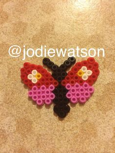 Butterfly hama bead / perler bead design made by myself