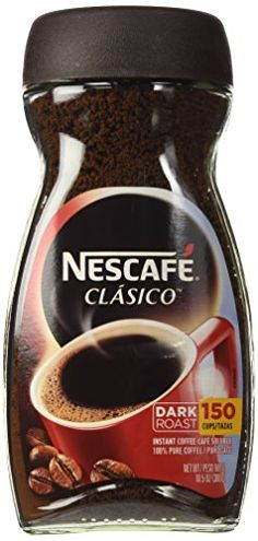 """Nescafe Clasico, Dark Roast Instant Coffee Jars (Pack of NESCAFÉ CLÃSICO has a unique taste and is a familiar """"cafecito"""" that Latino consumers know and love from home. Coffee Jars, Coffee Drinks, Coffee Coffee, How To Make Ice Coffee, Coffee Ice Cream, Coffee Store, Nescafe, Dark Roast, Instant Coffee"""