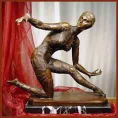Bronze & Marble statue by Demetre Chiparus - 1930