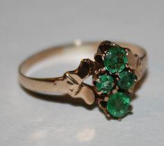 <3    <3    <3  emerald ring