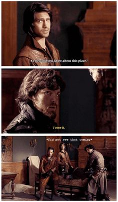 'I own it.' Athos (The Musketeers - 1x03 - Commodities)