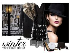 """""""What I Love About Winter"""" by katiethomas-2 ❤ liked on Polyvore featuring Tom Ford, Sachin + Babi, Kalmanovich, Maison Michel, Kate Spade, Christian Louboutin and Gucci"""