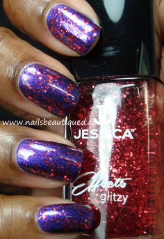 Jessica Effects Glitzy Collection, Sizzle | Nails Beautiqued