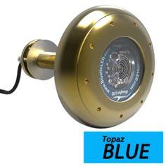 Bluefin LED Stingray S20 Thru-Hull Underwater LED Light - 9000 Lumens - Topaz Blue