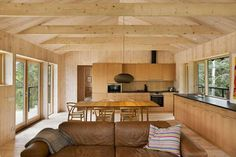 Wooden Cabin in the Swedish Archipelago | NordicDesign. Clean design, lots of cabinets. Scale back space