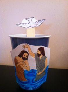John the Baptist and Jesus Baptism Craft by Debbie Jackson on Bible: John the Baptist Jesus' Baptism Sunday School Projects, Sunday School Kids, Sunday School Activities, Sunday School Lessons, Bible Activities For Kids, Bible Crafts For Kids, Preschool Bible, Preschool Crafts, Jesus Crafts