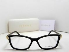 New Authentic Versace Eyeglasses ve 3156 GB1 VE3156 Made in Italy 51mm | eBay