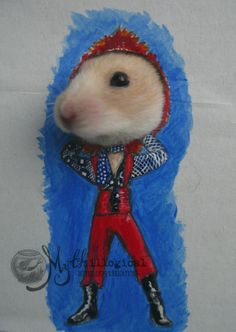 Adorable Hamster 'Dresses Up' As David Bowie With Cardboard Cutouts - DesignTAXI.com