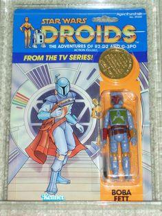 Vintage Star Wars 1985 AFA 60/70/75 RARE BOBA FETT ERROR DROIDS card back CL | eBay