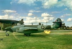 Any details on this image would be appreciated. Air Force Aircraft, Navy Aircraft, Ww2 Aircraft, Military Jets, Military Aircraft, Gloster Meteor, Royal Air Force, Royal Navy, Vintage Pictures