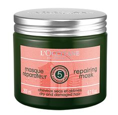 L'Occitane Aromachologie Repairing Mask -amazing product! Left my hair silky smooth.
