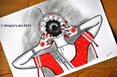 """She is ready now . """"The Odissi Dancer"""" size black ink and water colours; this is an inspiration from and is not… Dance Paintings, Indian Art Paintings, Mural Painting, Pencil Art Drawings, Cute Drawings, Art Sketches, Indian Art Gallery, Dancing Drawings, Madhubani Art"""