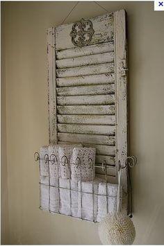 Love this idea for the shabby white bath