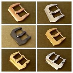 20, 22, 24, 26mm Watch Strap BUCKLE PAM Panerai-Style Screw-Pin Brushed Polished - PRE-V - BUY 2 & GET A WATCH POLISHING CLOTH FOR FREE