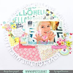 How pretty is designer @raquelp layout with all that gorgeous color? She has created it using our #may2016 #hipkits!  @hipkitclub @jillibeansoup @illustratedfaith @bellablvdllc #sheblooms #healthyhellosoup #papercrafting #scrapbooking #scrapbookingkitclub #kitclub #hipkitclub #hkcexclusives #exclusives #layout #scrapbook