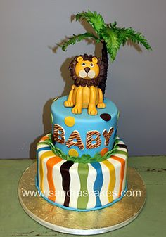 If my next child is a boy. Jungle Safari Cake, Safari Cakes, Baby Shower Cakes, Baby Boy Shower, Baby Showers, Beautiful Cakes, Amazing Cakes, Lion Cakes, Fancy Cupcakes