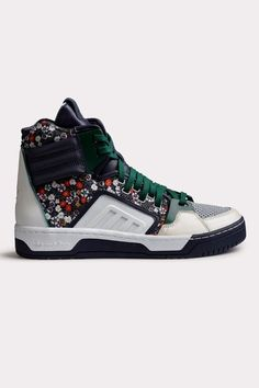 Injecting florals into man's footwear.