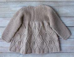 Девочки Одежда ручной вязки Бежевый хлопок SilverMapleKnits