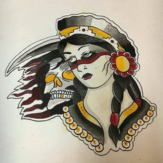 WANT A SHOUTOUT ?   CLICK LINK IN MY PROFILE !!!    Tag  #DRKYSELA   Repost from @ryan_w_leach   #traditionaltattoo #traditional #tattoo #daggerslave #eaglebrain #snakecharmer #gypsy #grimreaper via http://instagram.com/zbynekkysela
