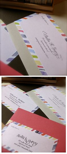 Printable colorful address label template, designed by Sarah Milne - free address labels samples