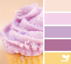 Purple cupcake colors make for a sweet purple color scheme. | design-seeds.com